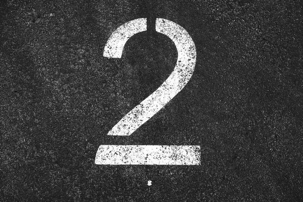 エンジェルナンバー『2』